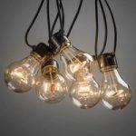 Rav-farvet LED-lyskæde Biergarten