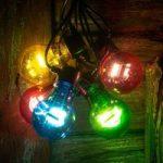 Lyskæde m. LED-LM glødepæreoptik multifarvet