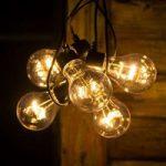 Lyskæde m. LED-LM glødepæreoptik rav-farvet