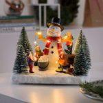 Batteridrevet – LED scene Snemand med børn