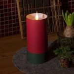 LED stearinlys i cylinderform – 3D flamme, rød