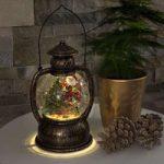 Vandfyldt LED kuglelanterne Julemand