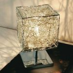 Bordlampe Kubini med terningeformet skærm