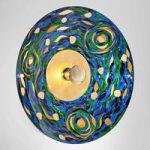 Den blå-grønne væglampe Aqua