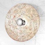 Medici – skøn væglampe i sølv, 54 cm