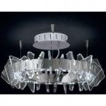 EOS ringformet LED-loftslampe med glas