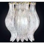 PETALI den elegante væglampe med Muranoglas
