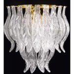 PETALI den slanke væglampe med Muranoglas