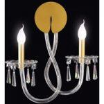 INTRECCI væglampe med Murano-glas, indhyldet