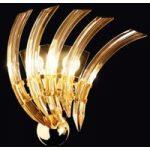 RONDO væglampe af ravfarvet Murano-glas