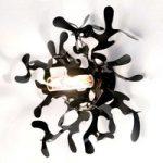 Forgrenet væglampe MINI CORAL i sort