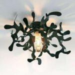 Forgrenet loftlampe MINI CORAL i sort