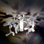 Forgrenet loftlampe MINI CORAL i sølvfolie