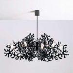 Betagende hængelampe CORAL i sort