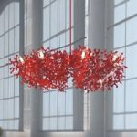 Betagende hængelampe CORAL i rødt