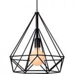 Tiltalende designet hængelampe Ricky, sort