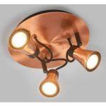 Rund LED loftspot Bolo med tre spots