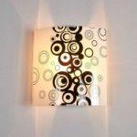 Sort-hvid glas-væglampe Fresh