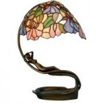 Eve excellent bordlampe i Tiffany-stil