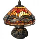 Køn Libella bordlampe i Tiffany-stil