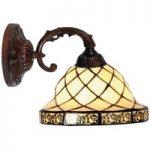 Diamond 1 – væglampe i Tiffany-stil