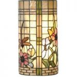 Hannah væglampe med blomster-look i Tiffany-stil