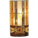 Miwa – væglampe i Tiffany-stil