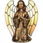 Bordlampe Engel i Tiffany-stil