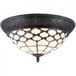 Loftlampe Kisa, Tiffany-stil, direkte