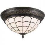 Loftlampe Wiebke i Tiffany-stil