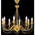 Retro – guldskinnende lysekrone