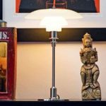 Louis Poulsen PH 2/1 bordlampe, højglans forkromet