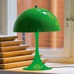Louis Poulsen Panthella Mini, bordlampe, gul-grøn