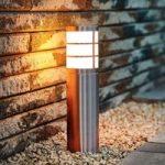 Sokkellampen Calgary i rustfrit stål IP44