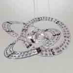 Trilogy stilfuld krystalpendellampe, sort