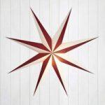 Dekorativ papirstjerne Alva rød-hvid