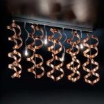 Spiralformet loftlampe Copper
