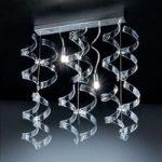 Smuk pendellampe Crystal med 2 lyskilder