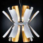 Designer hængelampen Tropic med bladguld