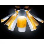 Bladguld designer loftslampen Tropic, 100 cm