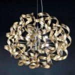GOLD – hængelampe med bladguld, 50 cm