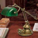 Belleville bordlampe i antik stil
