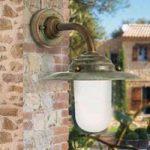Antique væglampe, højde 26 cm, antik-kobber