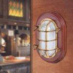Ocean loft- eller væglampe, antik messing