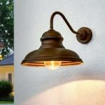 ALESSIA væglampe i antik messing