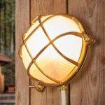 Bengt – væglampe til udendørs rund messing