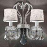 Elegant væglampe Galá, sølv, to lyskilder