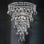 Ascana væglampen m. asfour-krystal