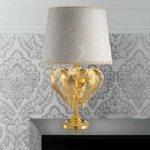 Angelis kostbar bordlampe i bladguld