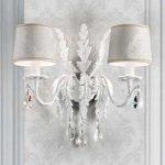 Angelis hvid væglampe med asfour-krystaller